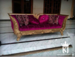 Kursi Sofa Mewah Gold Red